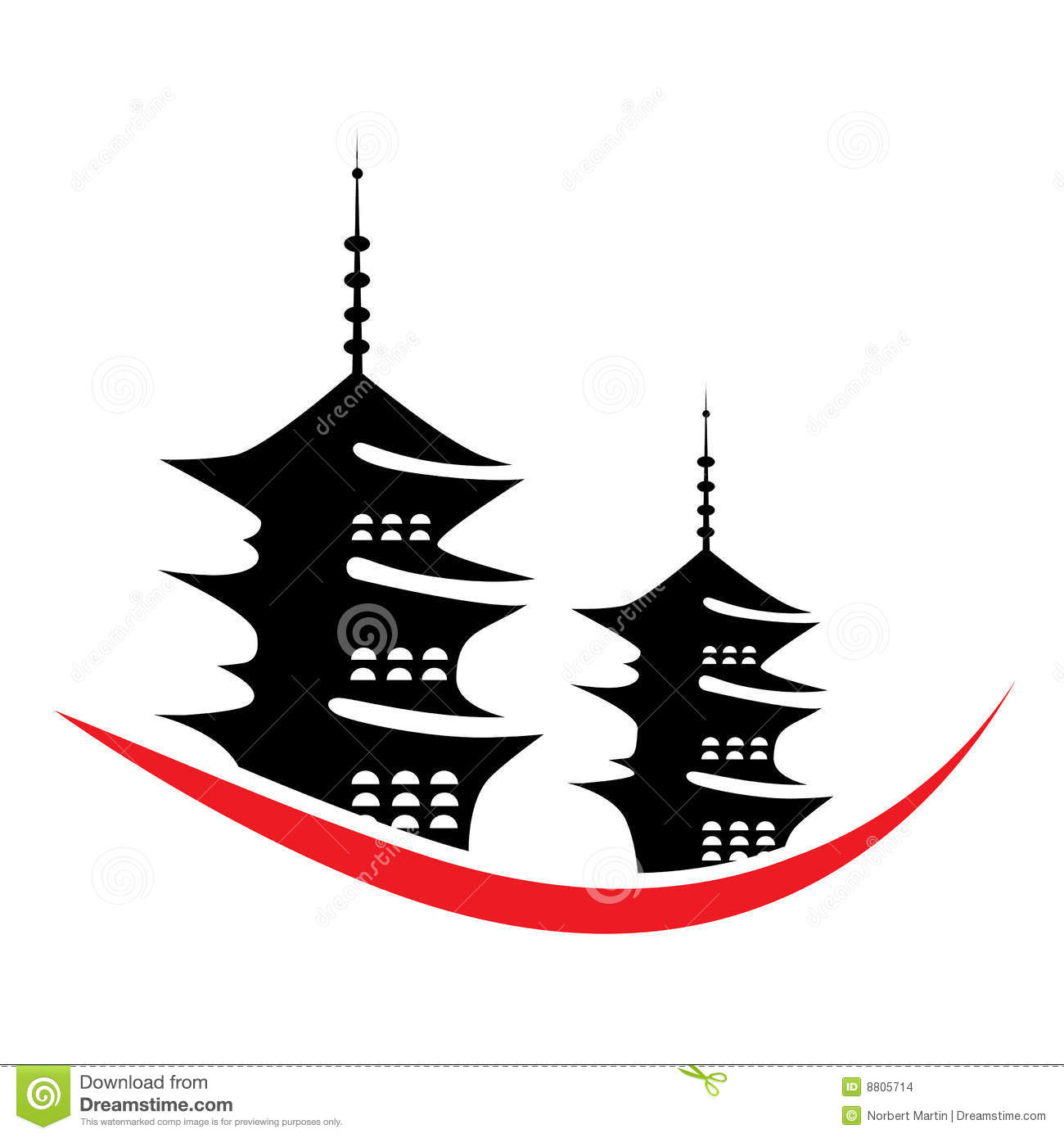 Pagoda clipart #8, Download drawings