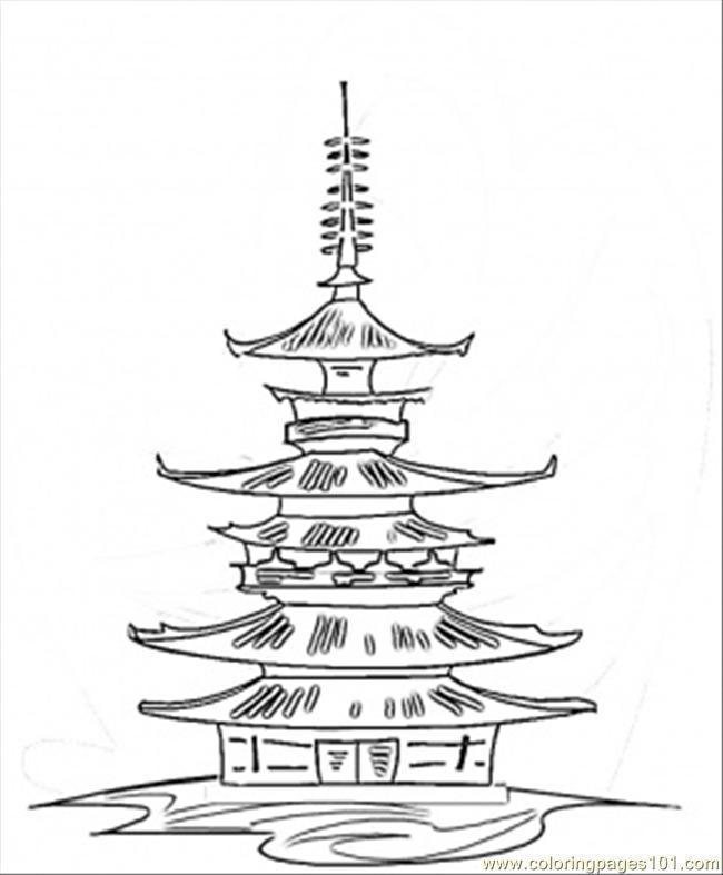 Shrine coloring #14, Download drawings