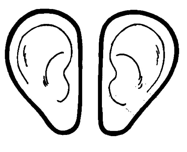 Pair coloring download pair coloring for Ear coloring pages