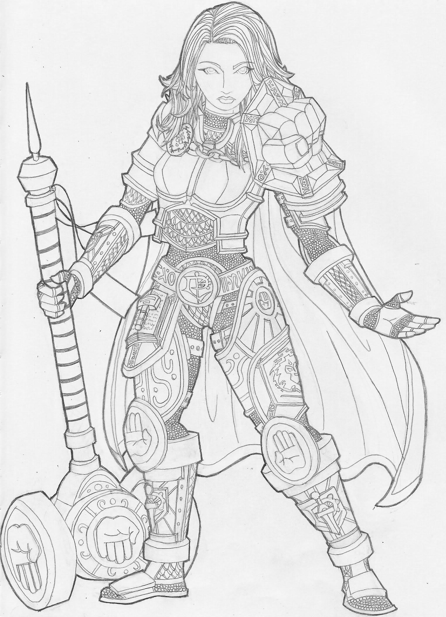 Paladin coloring #3, Download drawings