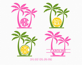 beach monogram svg #1070, Download drawings