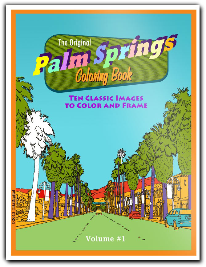 Palm Springs coloring #14, Download drawings