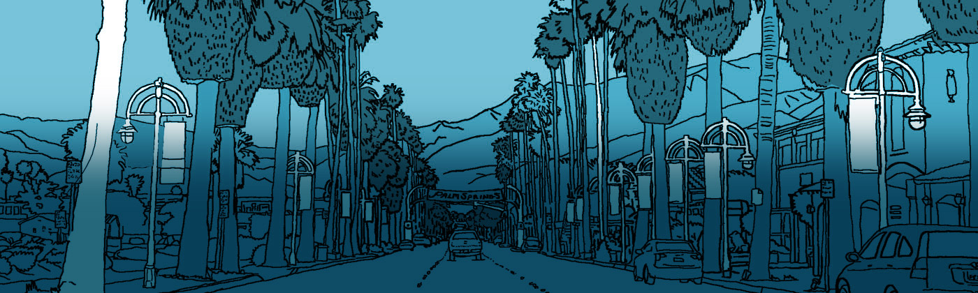Palm Springs coloring #7, Download drawings