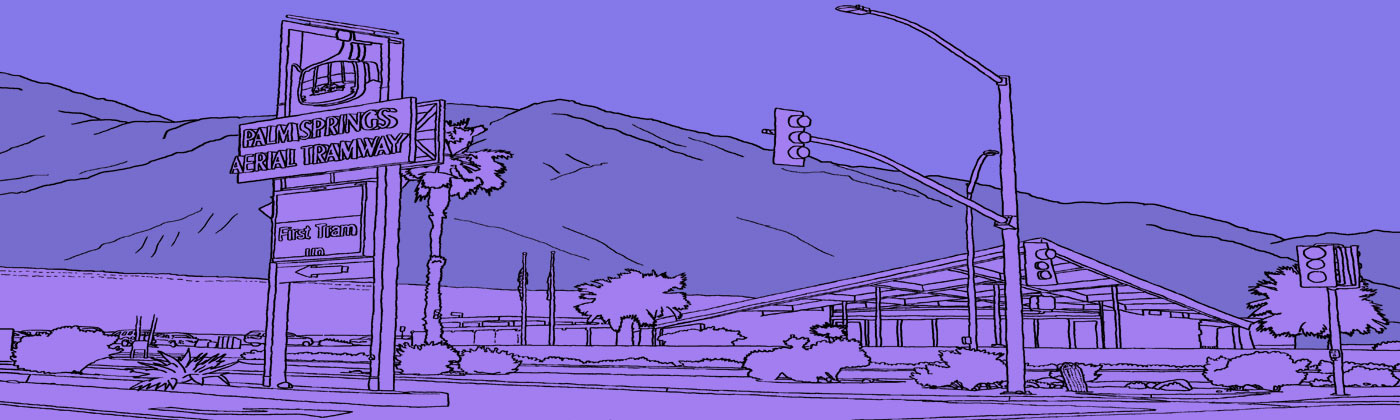 Palm Springs coloring #15, Download drawings
