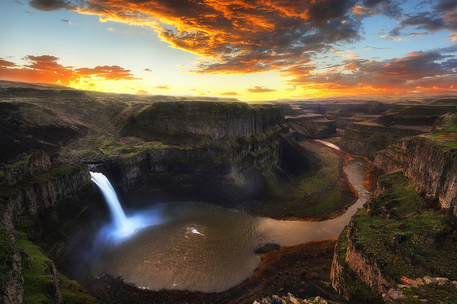 Palouse Falls State Park coloring #3, Download drawings