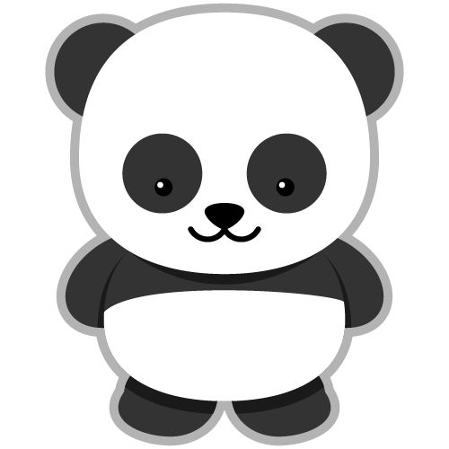 Panda clipart #4, Download drawings