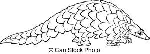 Pangolin clipart #1, Download drawings