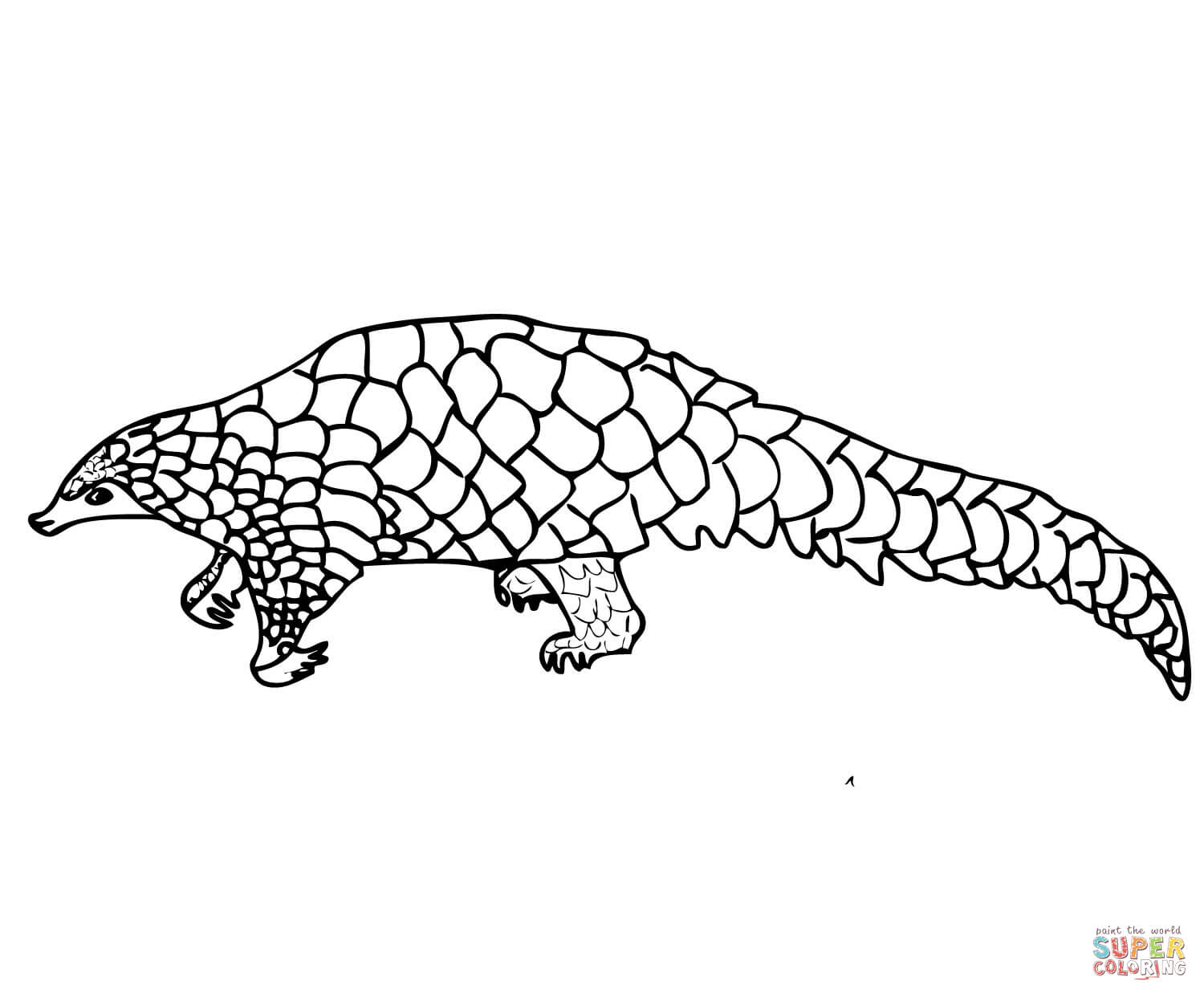 Pangolin coloring #9, Download drawings