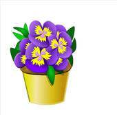 Pansy clipart #20, Download drawings