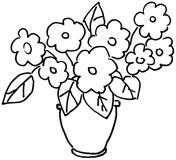 Pansy coloring #9, Download drawings