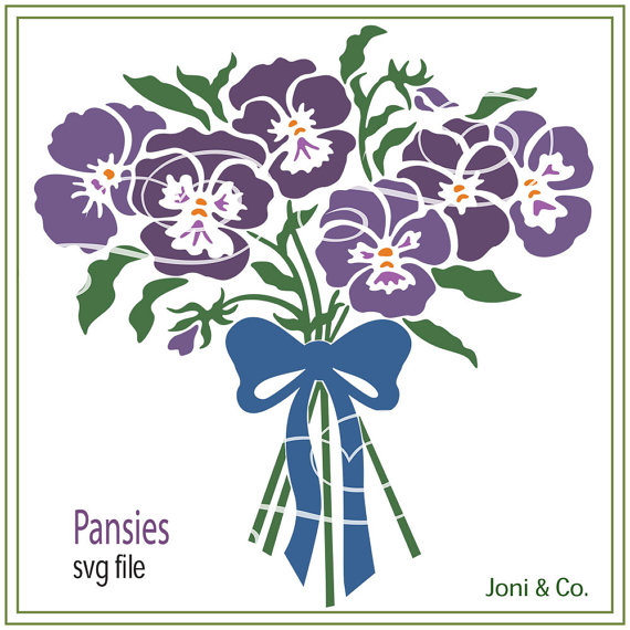 Pansy svg #15, Download drawings