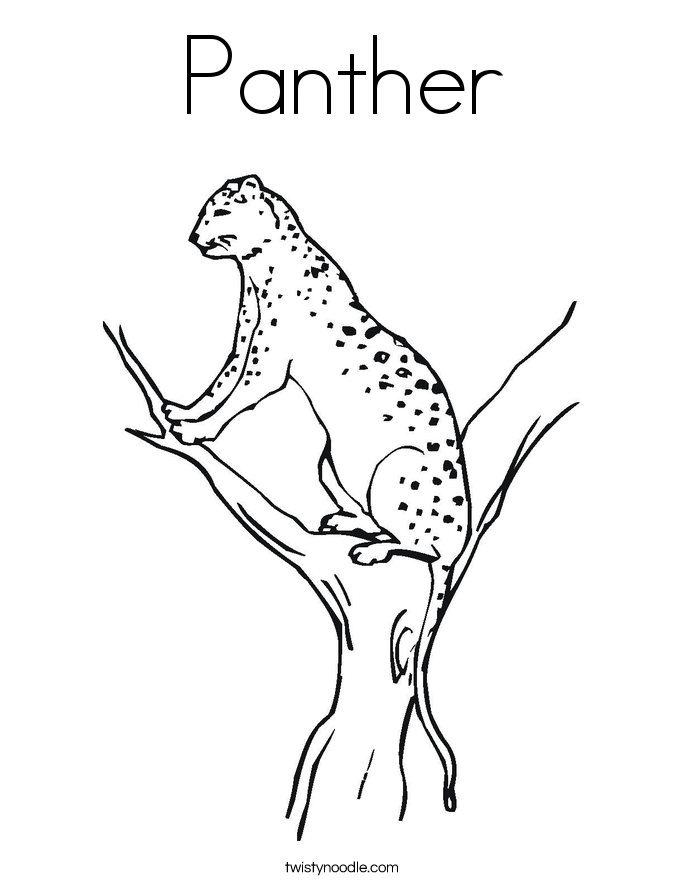 Panther coloring #9, Download drawings