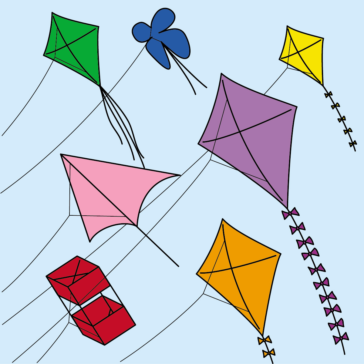 Paper Kite clipart #4, Download drawings