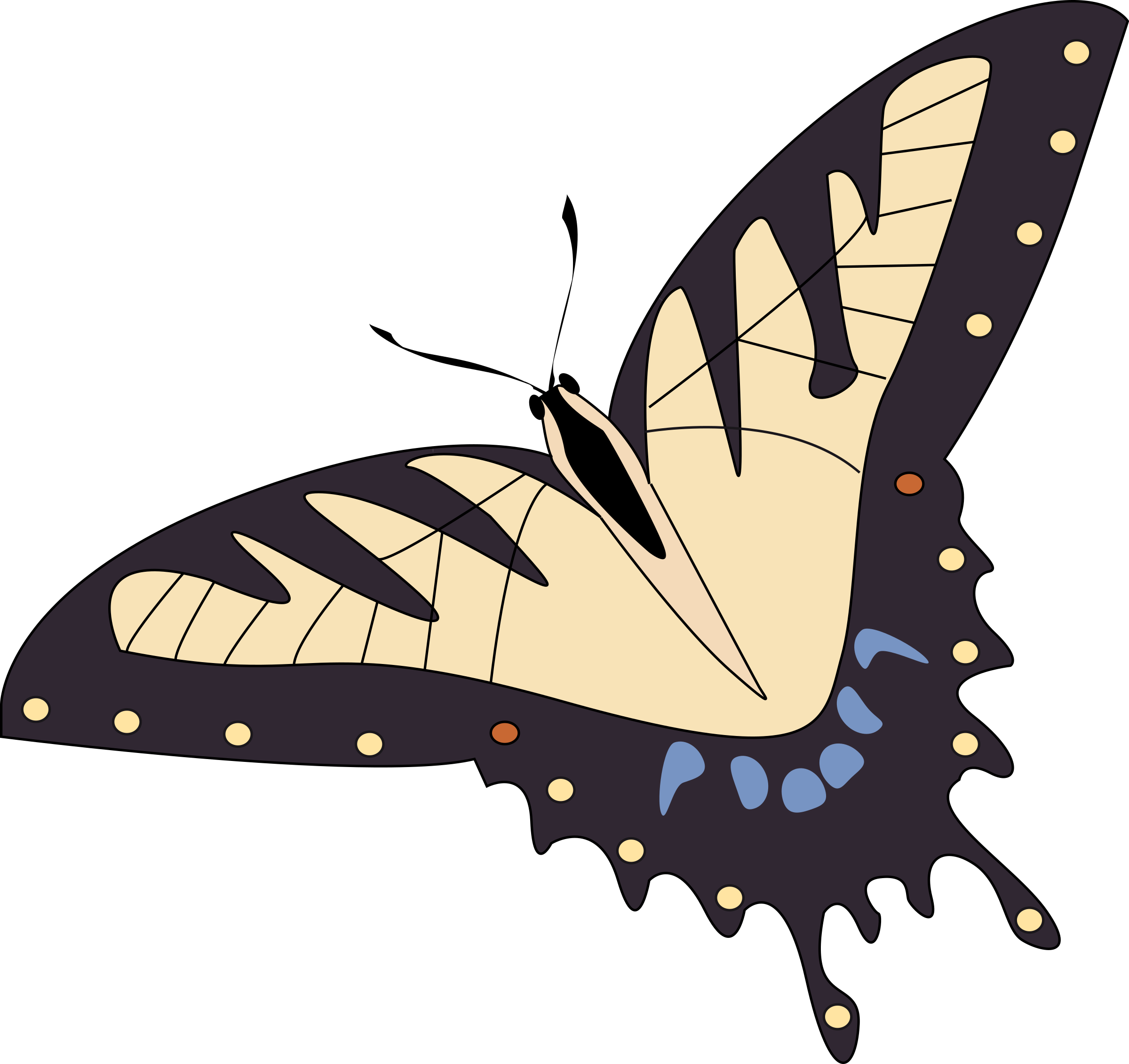 Papillon clipart #1, Download drawings