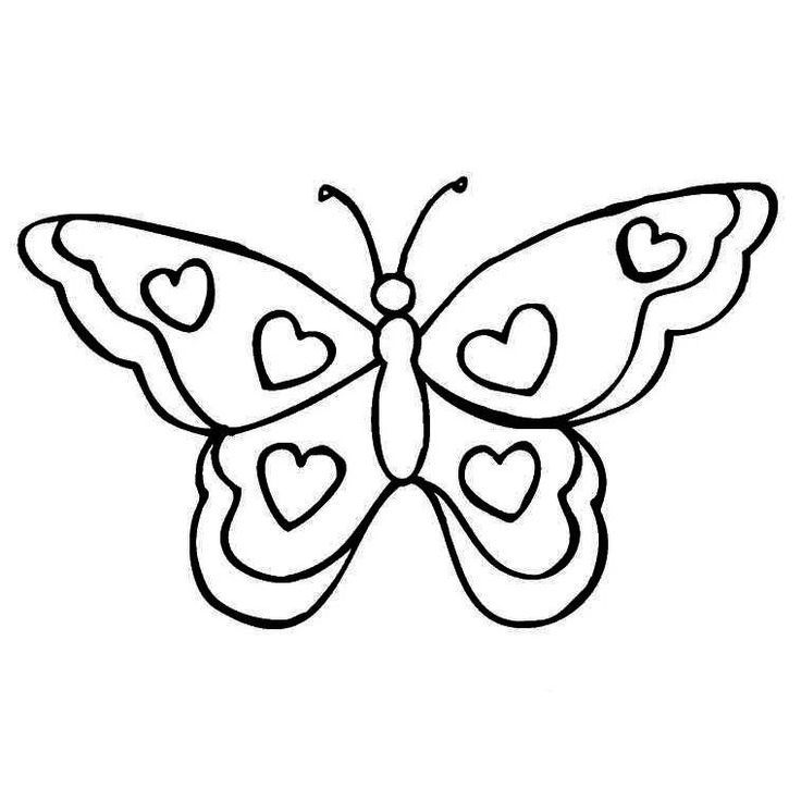 Papillon coloring #2, Download drawings