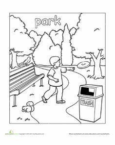 Parc coloring #9, Download drawings