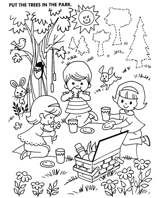 Parc coloring #13, Download drawings