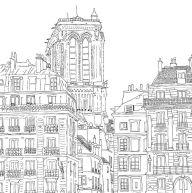 Paris Coloring 8 Download Drawings