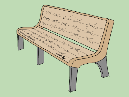 Park Bench coloring #2, Download drawings