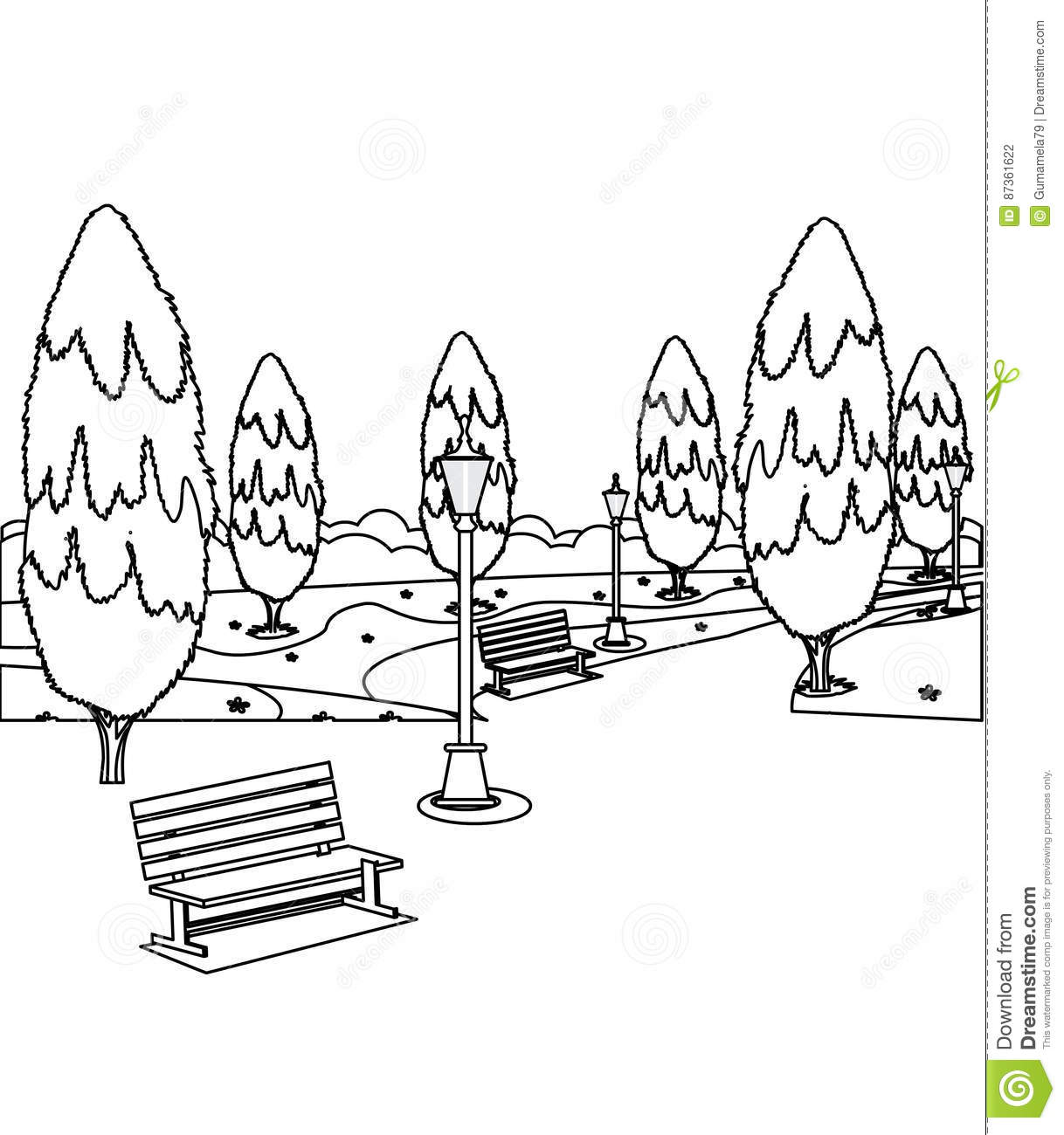 Park Bench Coloring Download Park Bench Coloring For Free