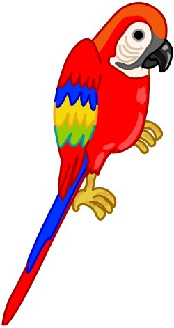 Parrot clipart #2, Download drawings