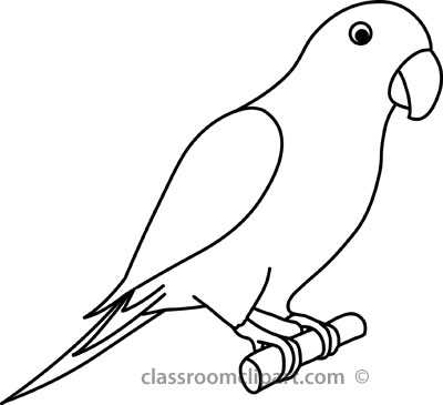 Parrot clipart #3, Download drawings