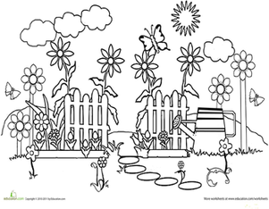 Garden coloring #20, Download drawings