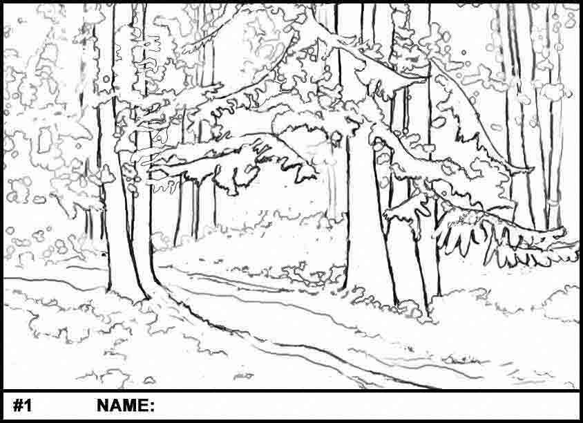 Pathway coloring #12, Download drawings