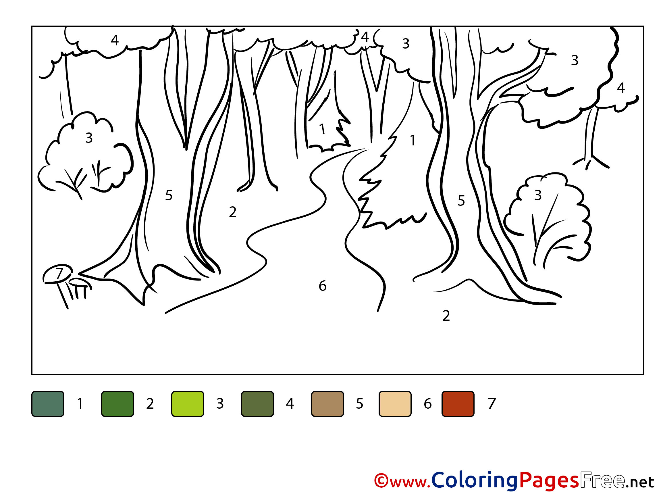 Pathway coloring #1, Download drawings