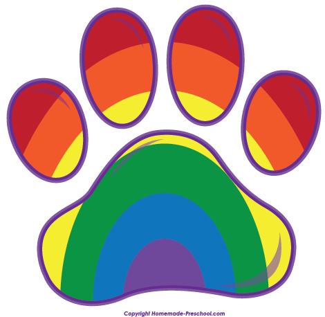 Paw Prints clipart #1, Download drawings