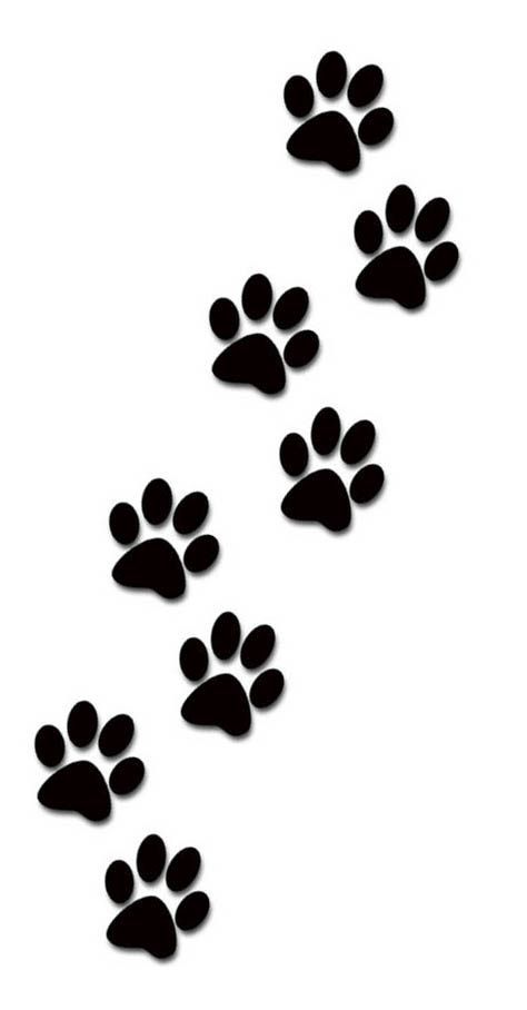 Paw Prints clipart #2, Download drawings