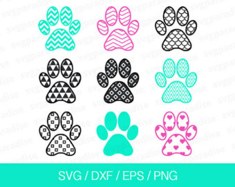 Paw Prints svg #3, Download drawings