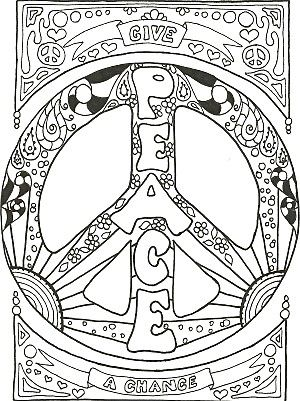 Peace coloring #10, Download drawings