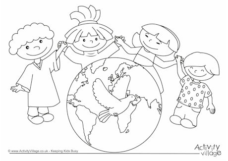 Peace coloring #6, Download drawings