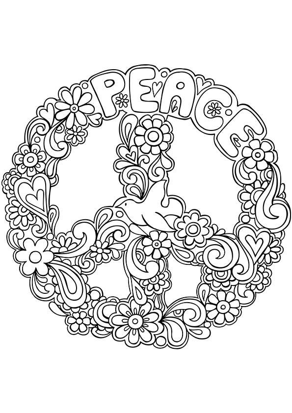 Peace coloring #4, Download drawings