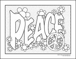 Peace coloring #16, Download drawings