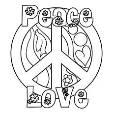 Peace coloring #5, Download drawings