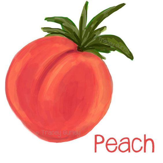 Peach (color) clipart #2, Download drawings