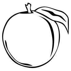 Peach coloring #3, Download drawings