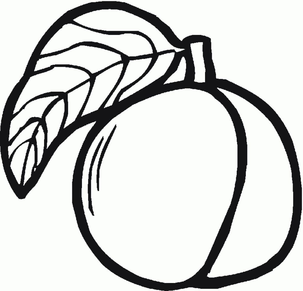 Peach coloring #1, Download drawings