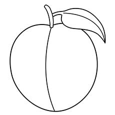 Peach coloring #5, Download drawings