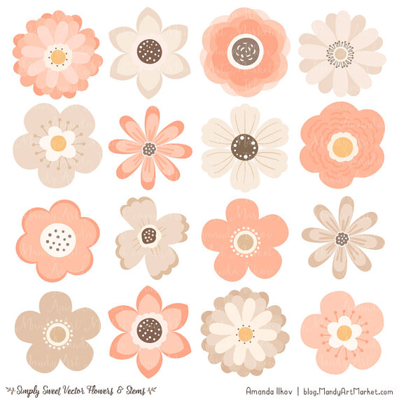 Peach Flower clipart #12, Download drawings