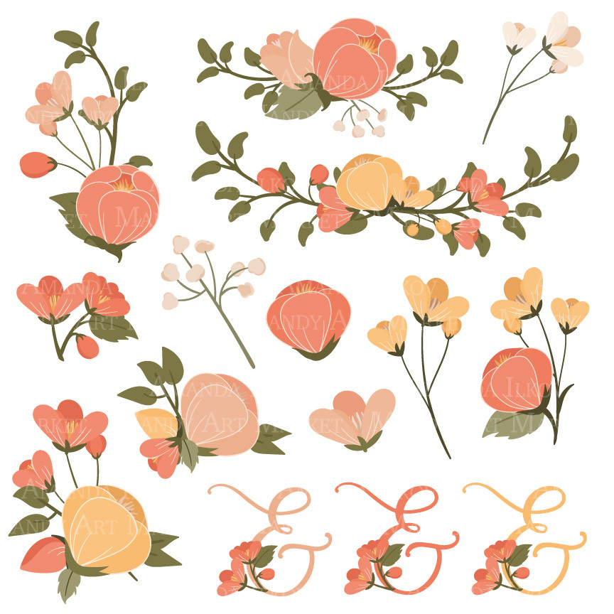 Peach Flower clipart #9, Download drawings
