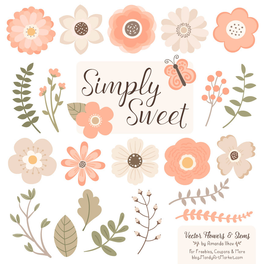 Peach Flower clipart #13, Download drawings
