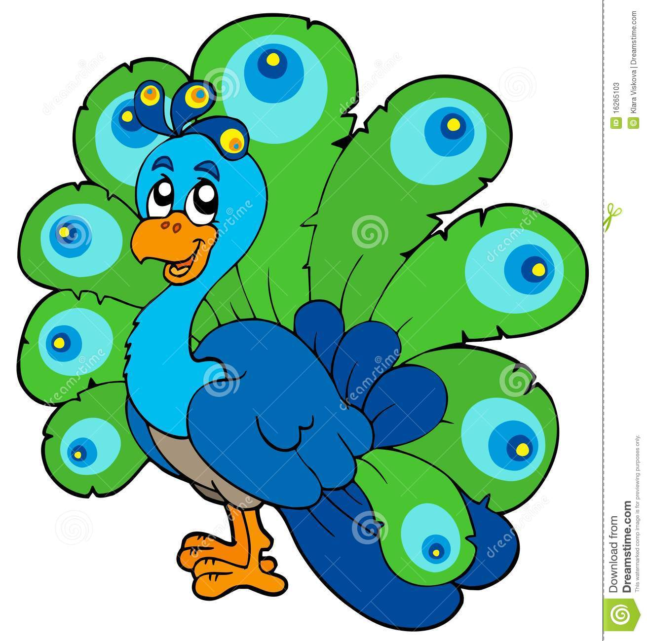 Peacock clipart #1, Download drawings
