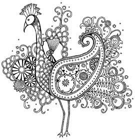 Peacock coloring #10, Download drawings