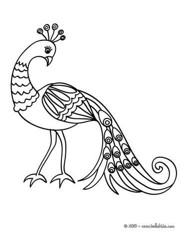 Peafowl coloring #17, Download drawings