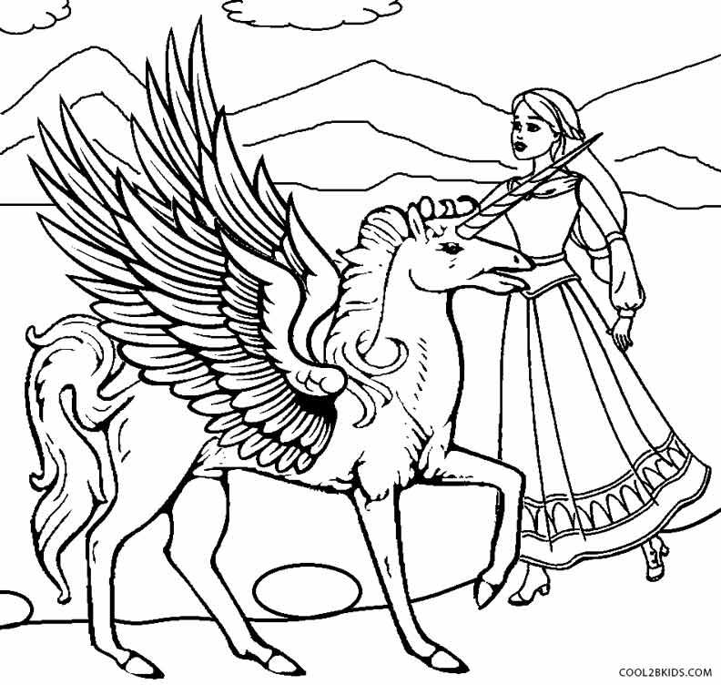 Pegasus coloring #15, Download drawings