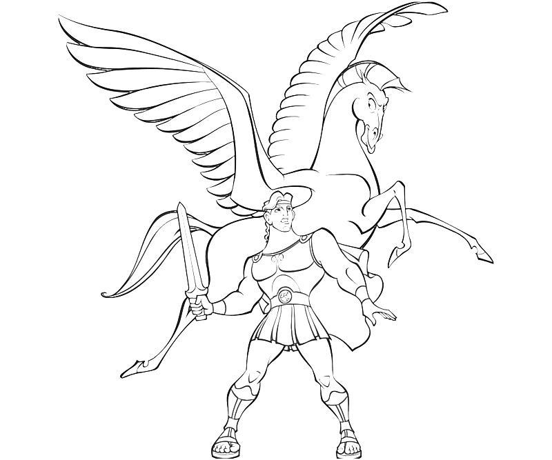 Pegasus coloring #17, Download drawings