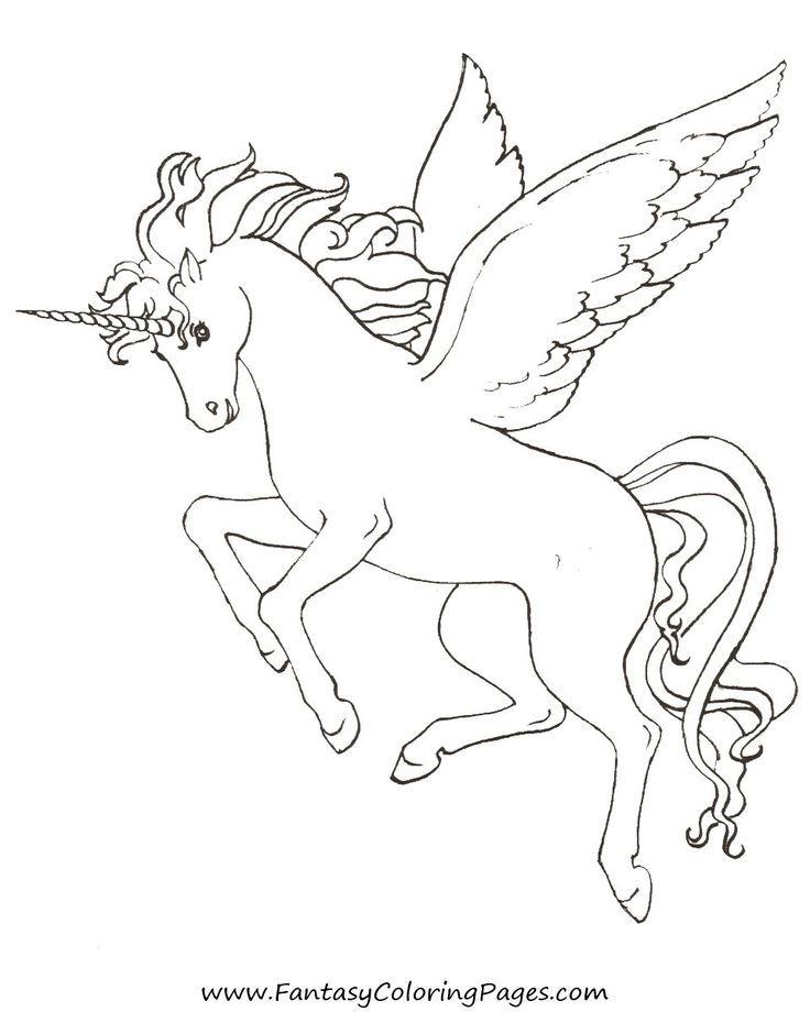 Pegasus coloring #7, Download drawings